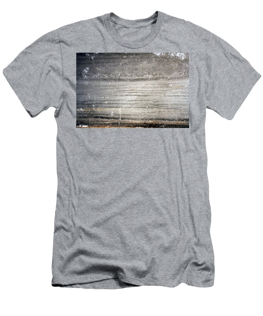 Ice Men's T-Shirt (Athletic Fit) featuring the photograph Layers by Allan Lovell