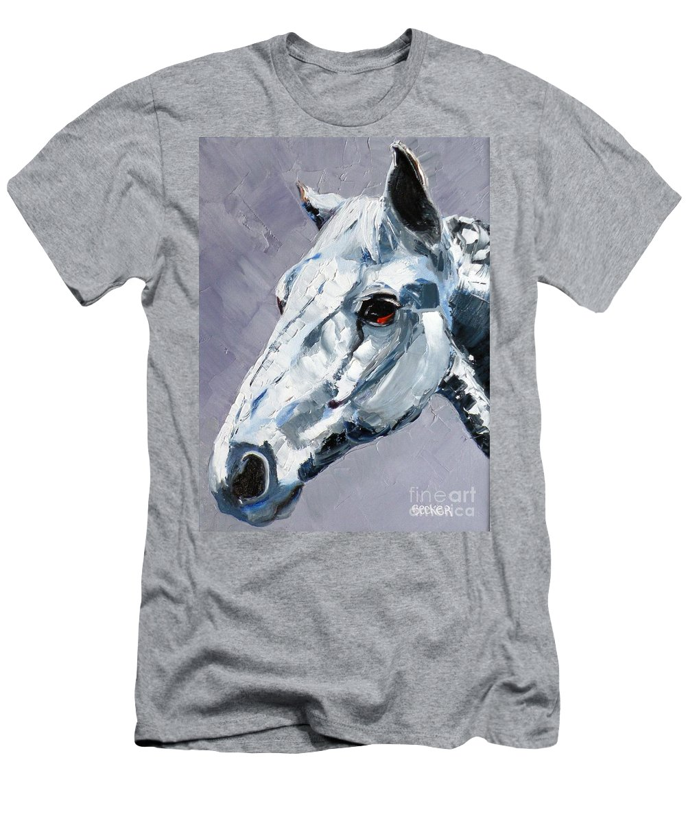 Horse Men's T-Shirt (Athletic Fit) featuring the painting Legend - Sport Horse by Susan A Becker