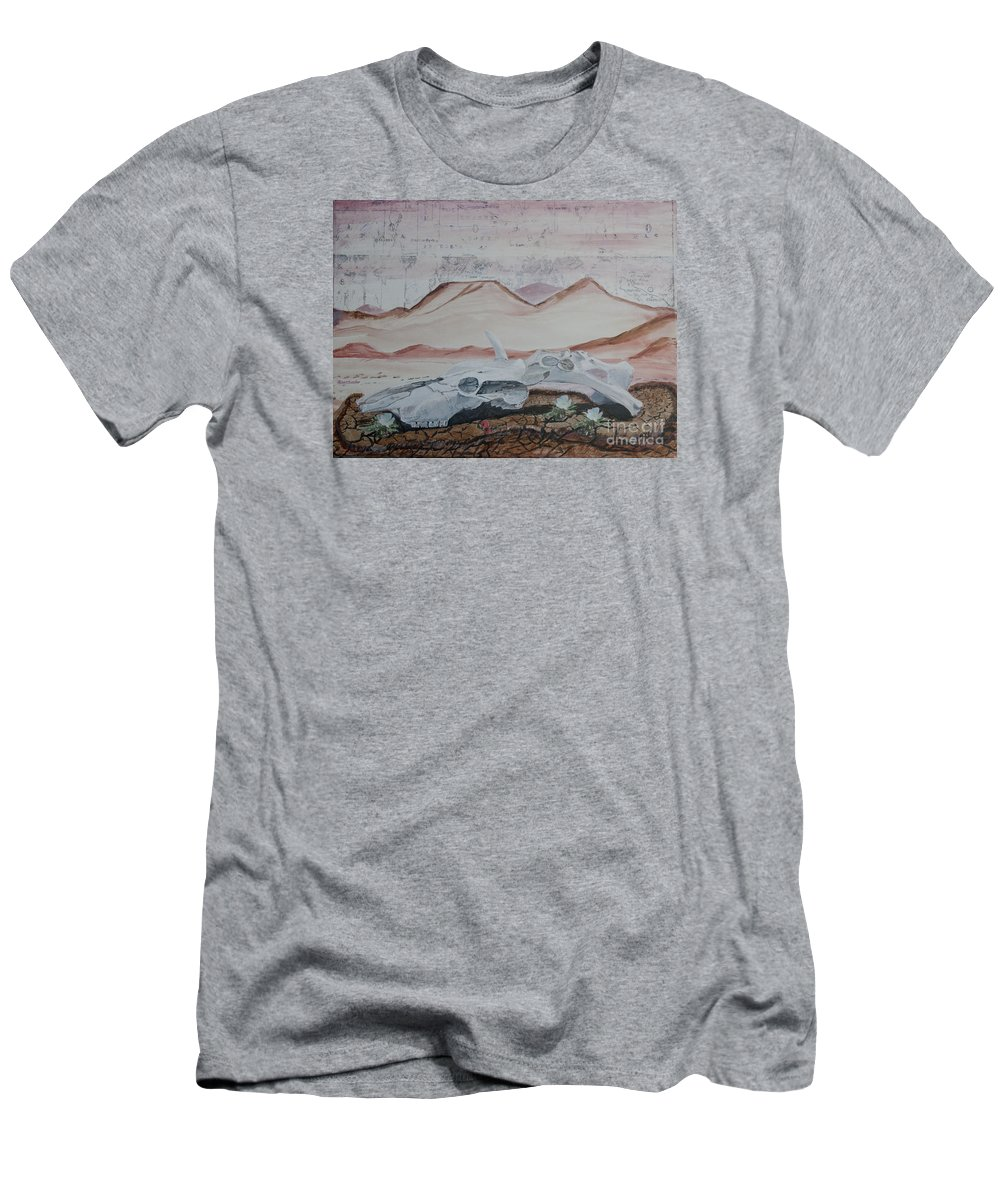 Arizona Men's T-Shirt (Athletic Fit) featuring the painting Life From Death In The Desert by Ian Donley