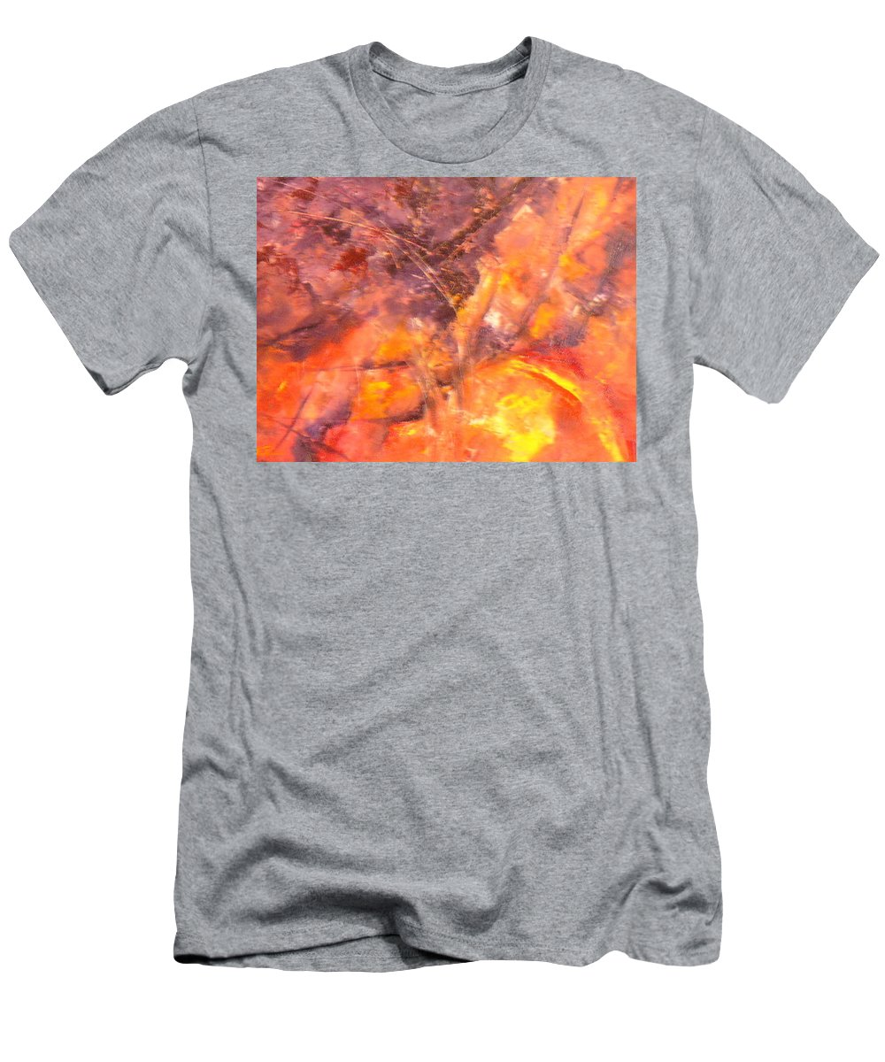Yellow Men's T-Shirt (Athletic Fit) featuring the painting Life II by Lord Frederick Lyle Morris