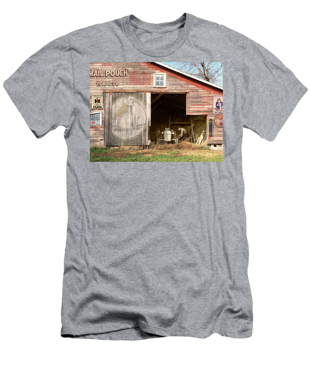 Farm Men's T-Shirt (Athletic Fit) featuring the photograph Life On The Farm by John Anderson