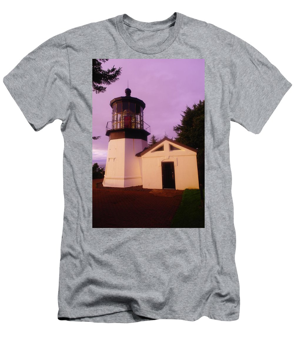 Old Men's T-Shirt (Athletic Fit) featuring the photograph Light House by Jeff Swan