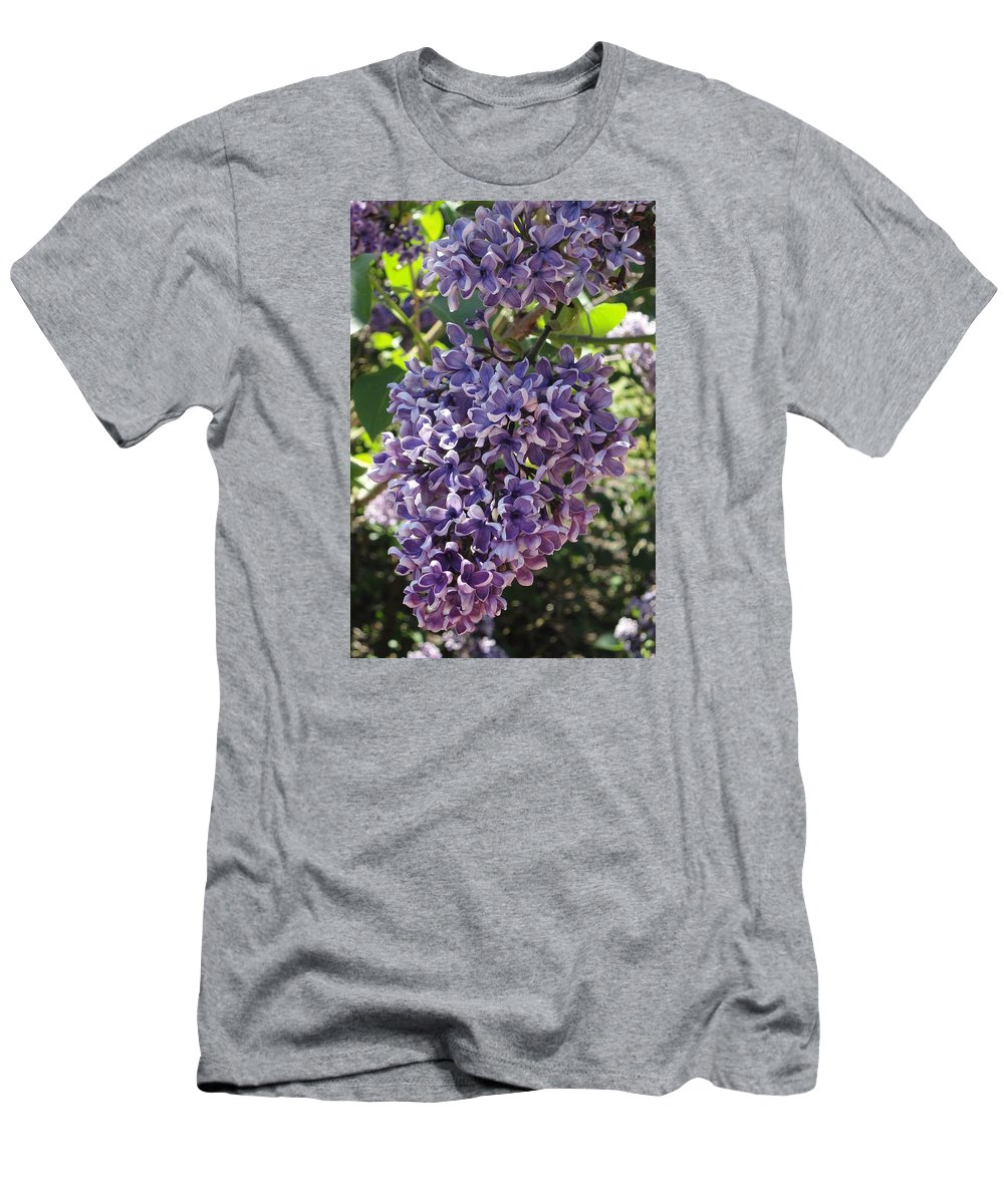 Lilacs Men's T-Shirt (Athletic Fit) featuring the photograph Lilac Beauty by Angie Narus