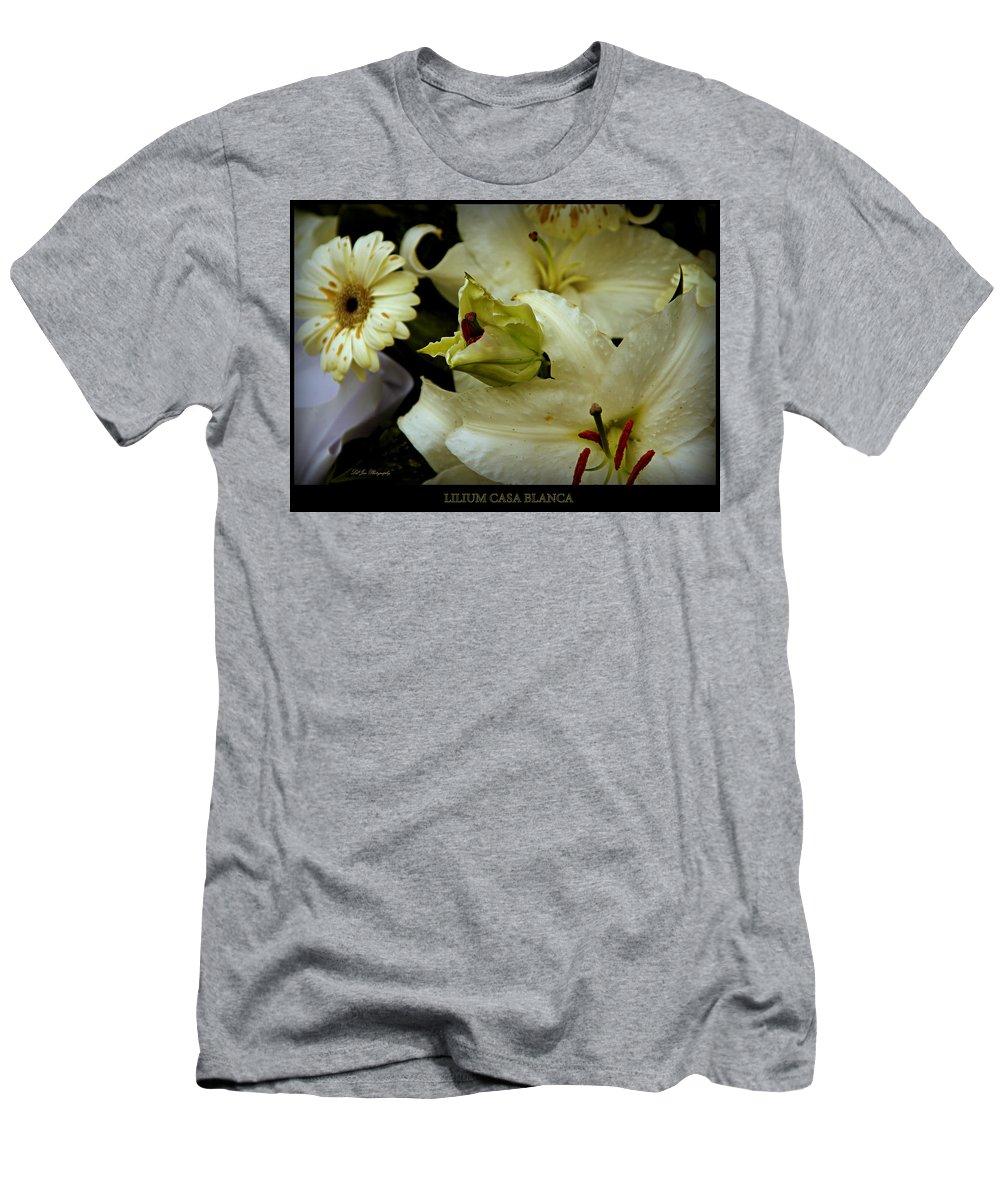Flower Men's T-Shirt (Athletic Fit) featuring the photograph Lilium Casa Blanca by Jeanette C Landstrom