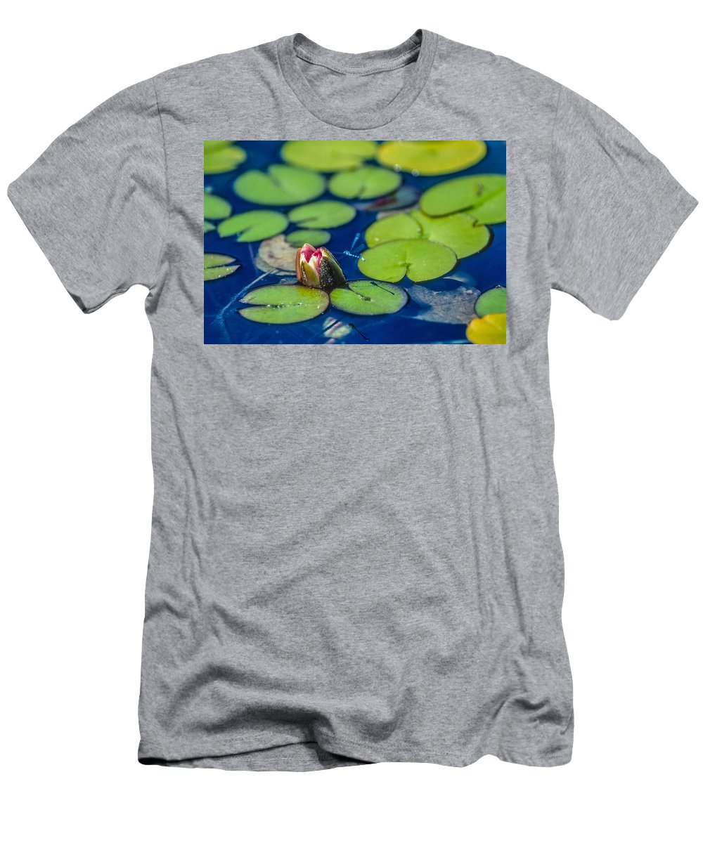 Dragonfly Men's T-Shirt (Athletic Fit) featuring the photograph Lily Pads by Mike Penney