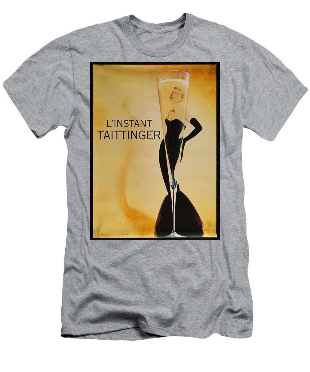 L'instant Taittanger T-Shirt featuring the digital art L'Instant Taittinger by Georgia Fowler