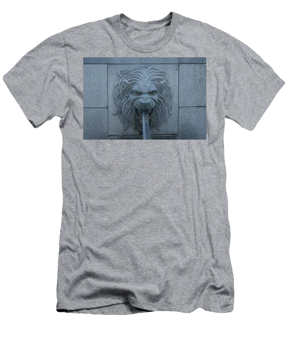 State Men's T-Shirt (Athletic Fit) featuring the photograph Lion Head by Rob Luzier