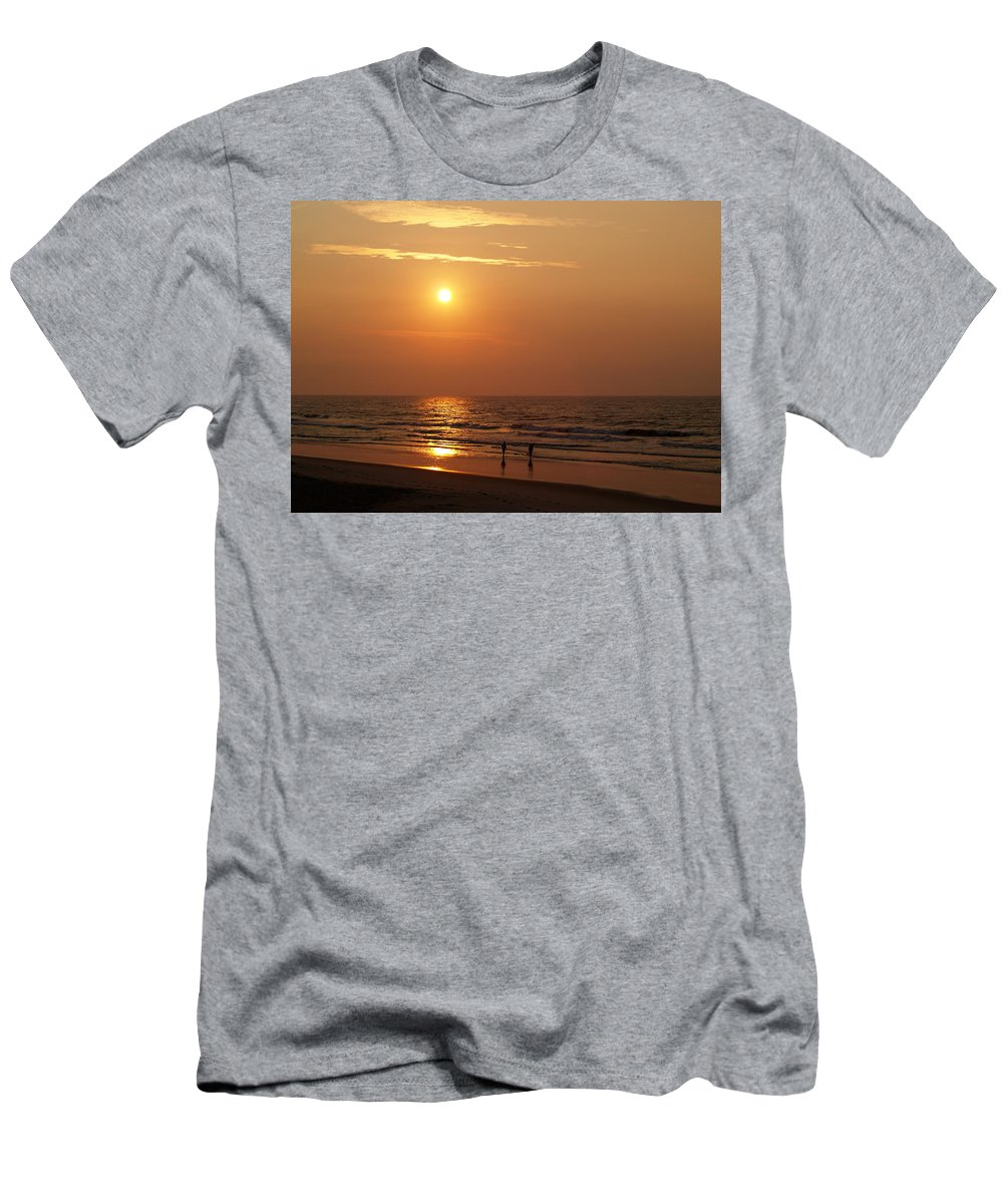 Litchfield Beach Men's T-Shirt (Athletic Fit) featuring the photograph Litchfield Sunrise by Charles Hite