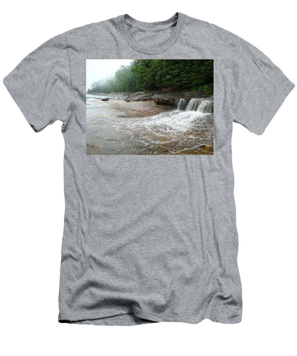 Upper Peninsula Men's T-Shirt (Athletic Fit) featuring the photograph Little Miner by Two Bridges North