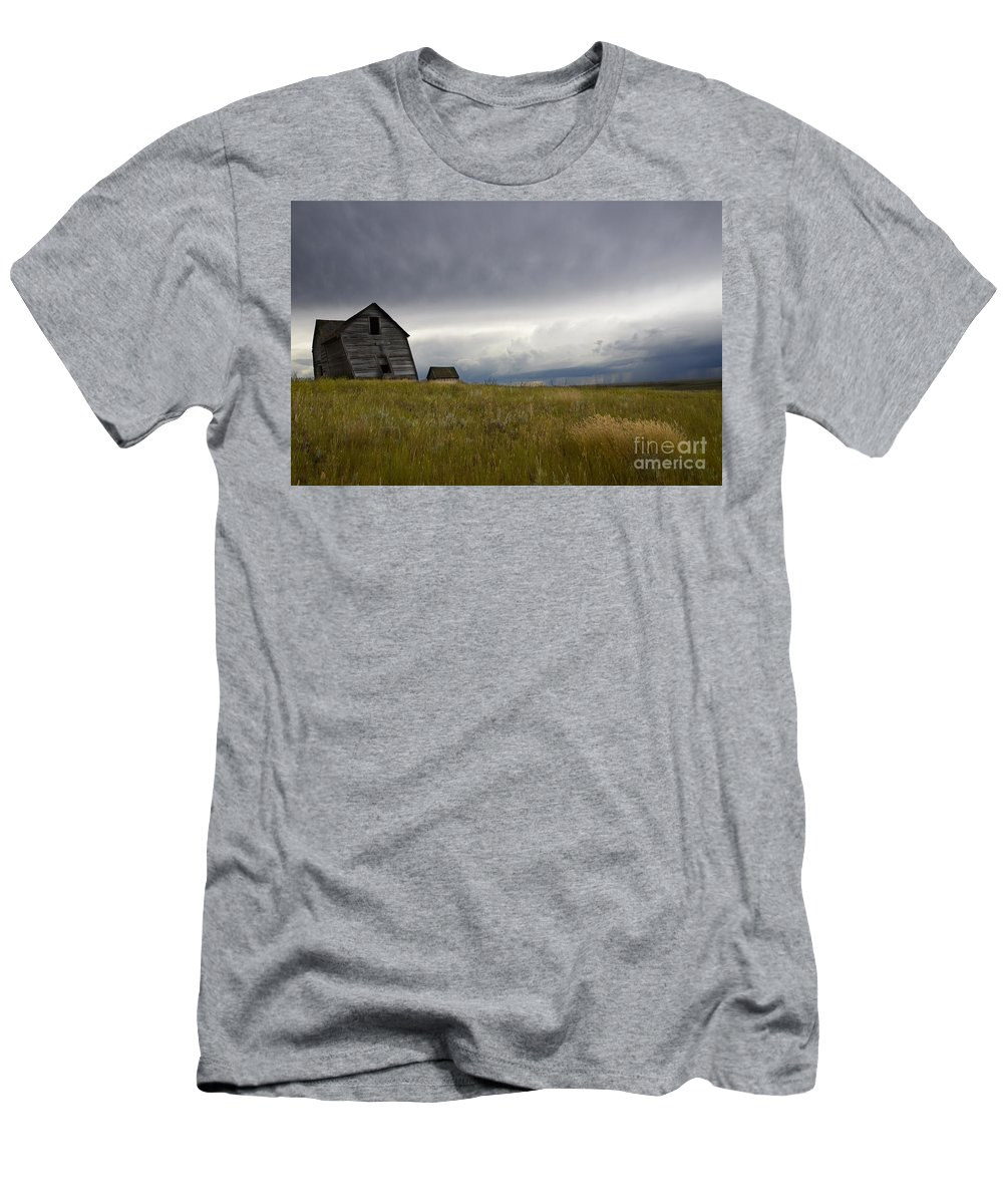 Homestead Men's T-Shirt (Athletic Fit) featuring the photograph Little Remains by Bob Christopher