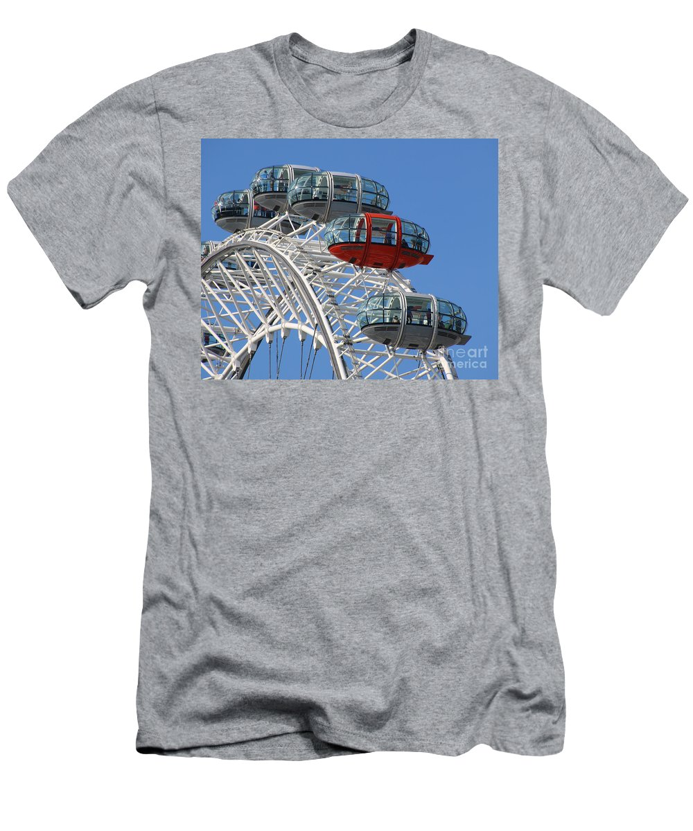 London Eye Men's T-Shirt (Athletic Fit) featuring the photograph London Eye 5339 by Jack Schultz