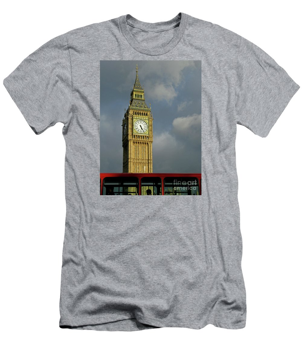 London Icons By Ann Horn Men's T-Shirt (Athletic Fit) featuring the photograph London Icons by Ann Horn