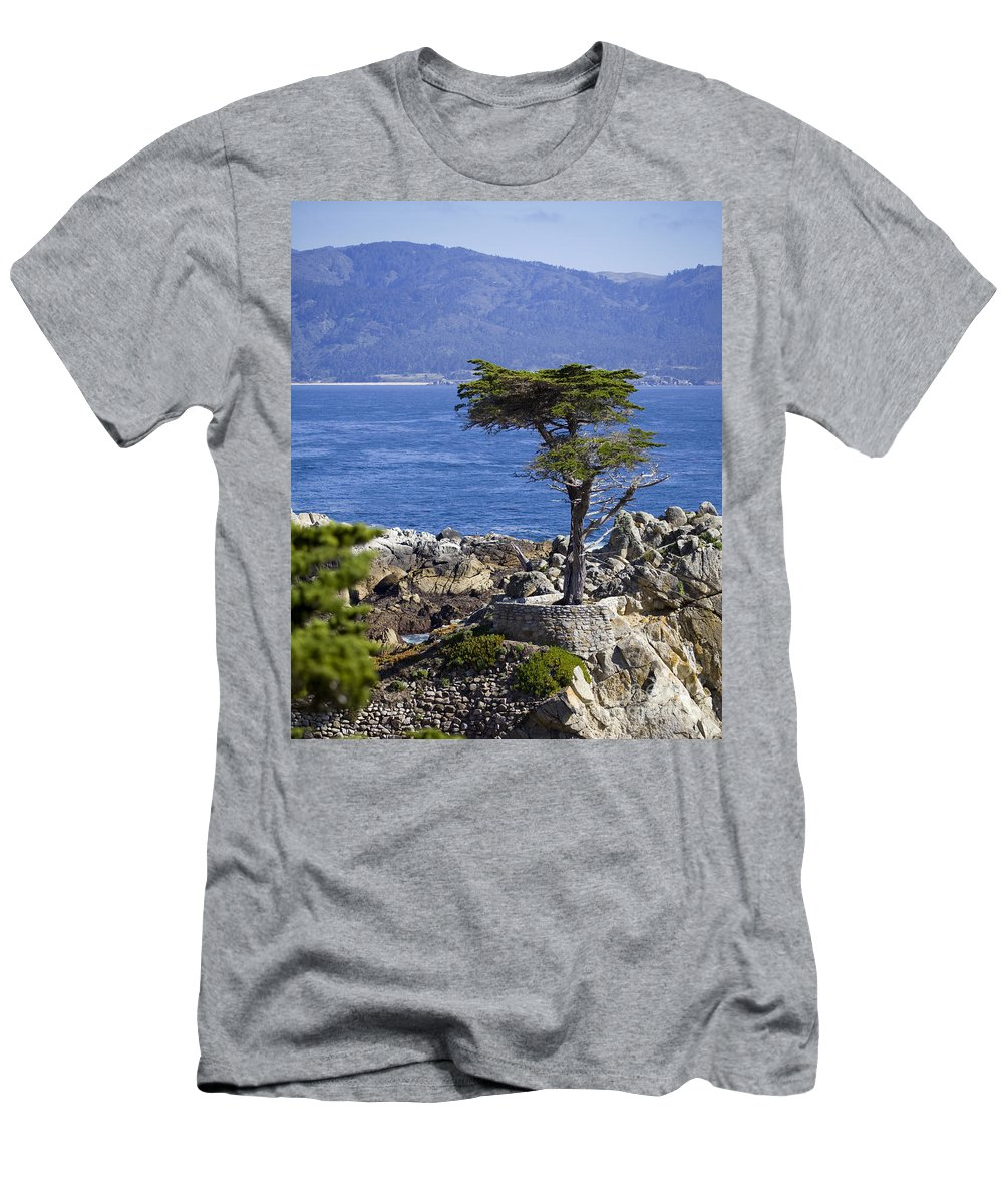 Lone Cypress Men's T-Shirt (Athletic Fit) featuring the photograph Lone Cypress Tree by B Christopher