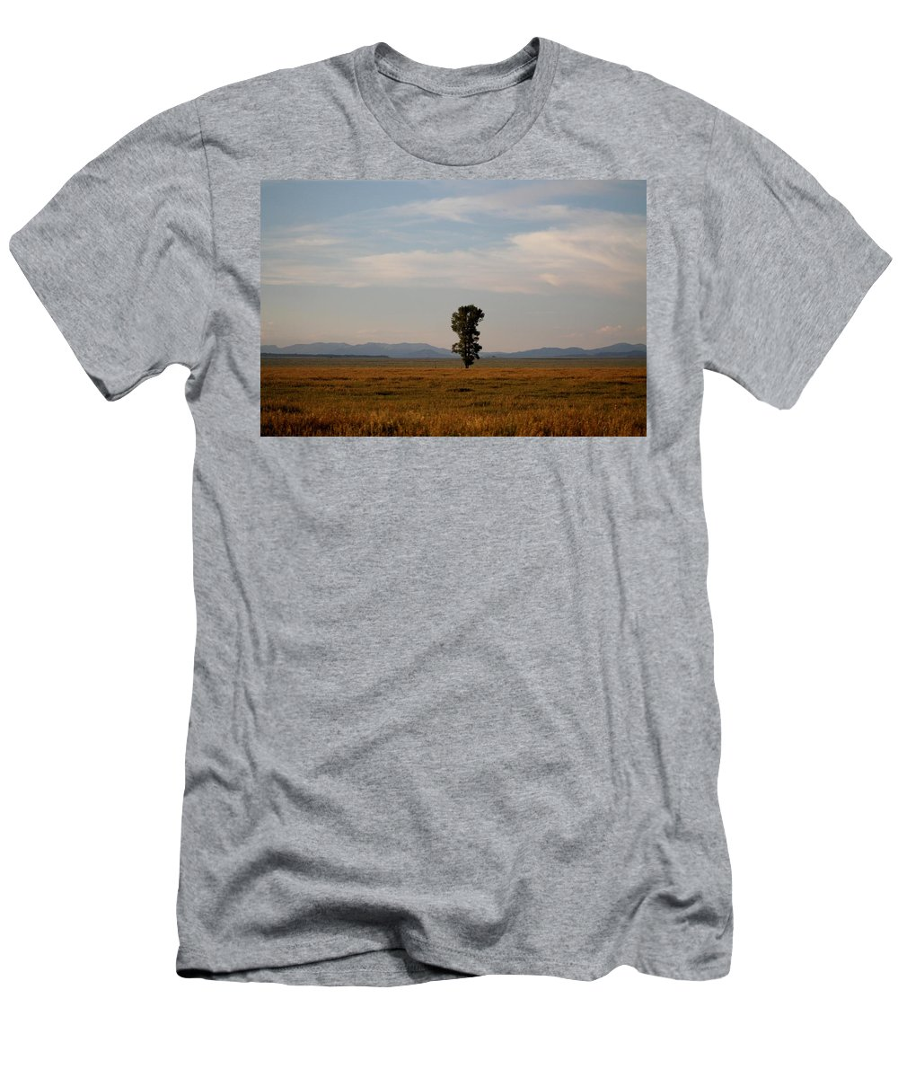 Kelly Men's T-Shirt (Athletic Fit) featuring the photograph Lonely Tree by Catie Canetti
