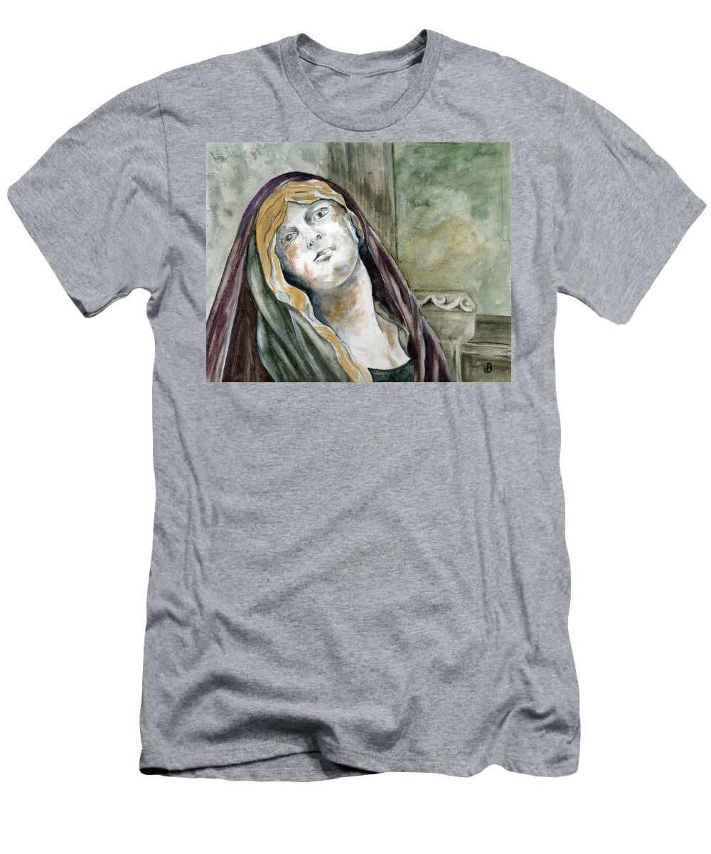 Portrait Men's T-Shirt (Athletic Fit) featuring the painting Longing by Brenda Owen