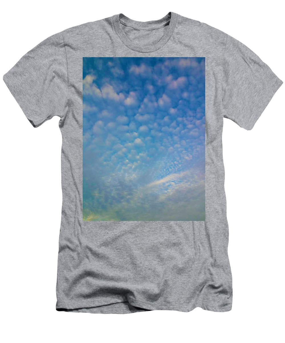 Blue Men's T-Shirt (Athletic Fit) featuring the photograph Looking Up by Kimberlee Marvin