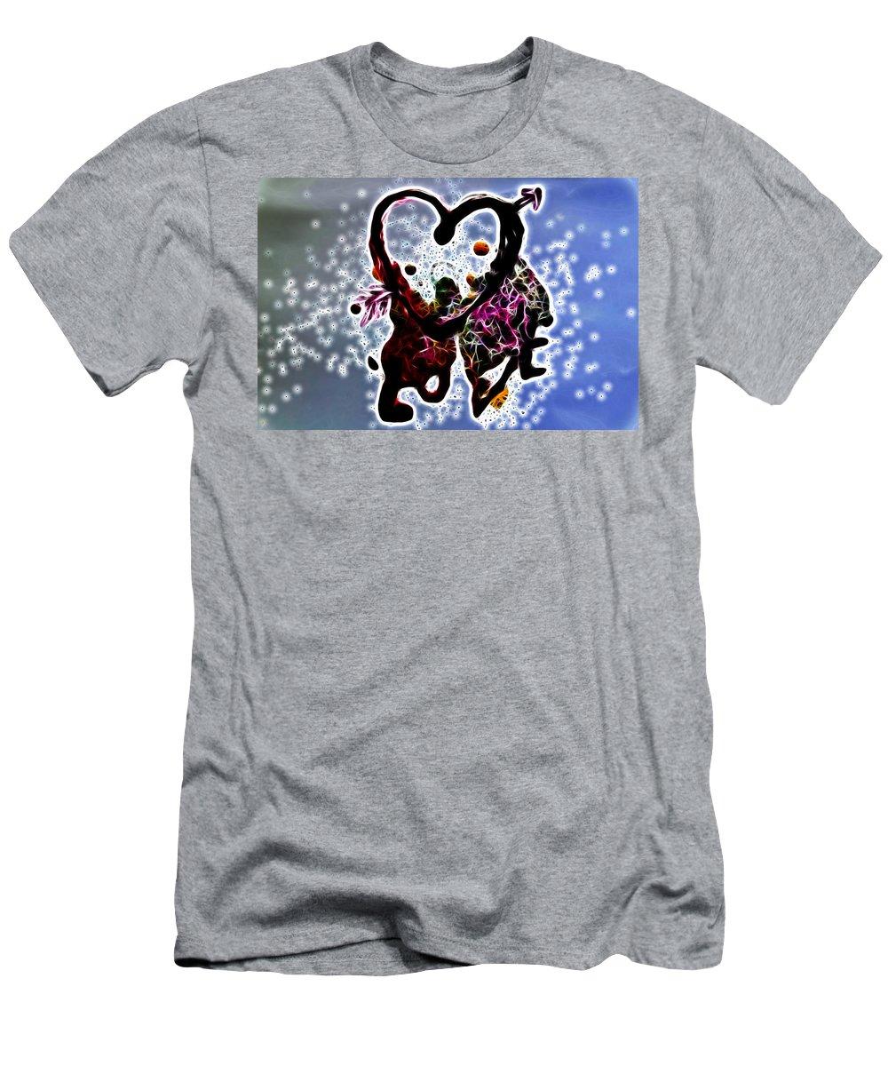 Love Men's T-Shirt (Athletic Fit) featuring the digital art Love Is Blue by Sotiris Filippou