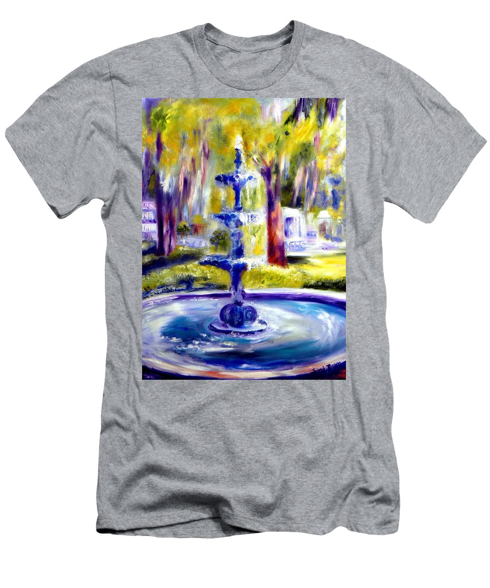 Savannah Men's T-Shirt (Athletic Fit) featuring the painting Luv by Sandy Ryan