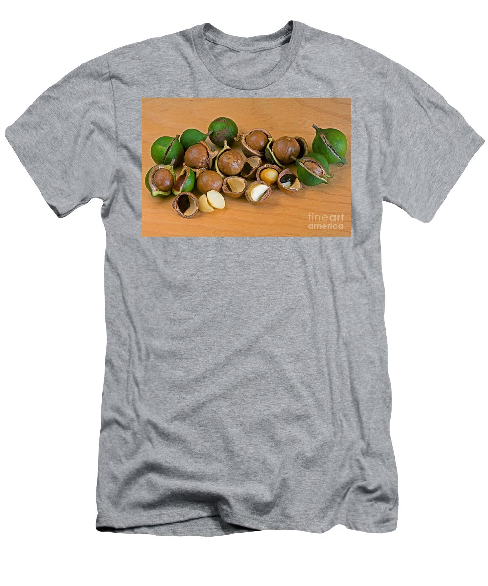 Macadamia Nuts Men's T-Shirt (Athletic Fit) featuring the photograph Macadamia Nuts by Anthony Mercieca