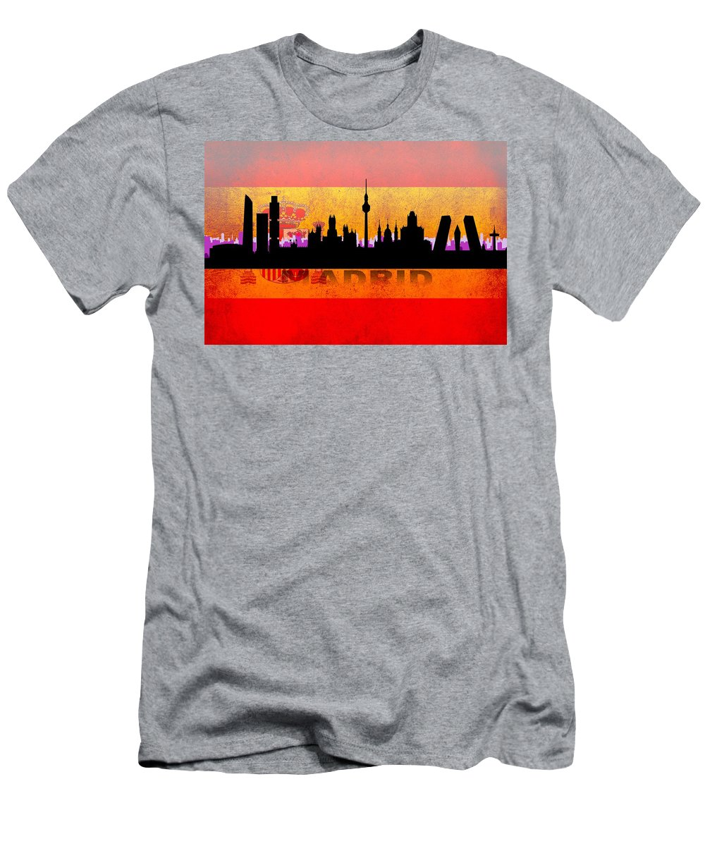 Architecture Men's T-Shirt (Athletic Fit) featuring the digital art Madrid City by Don Kuing