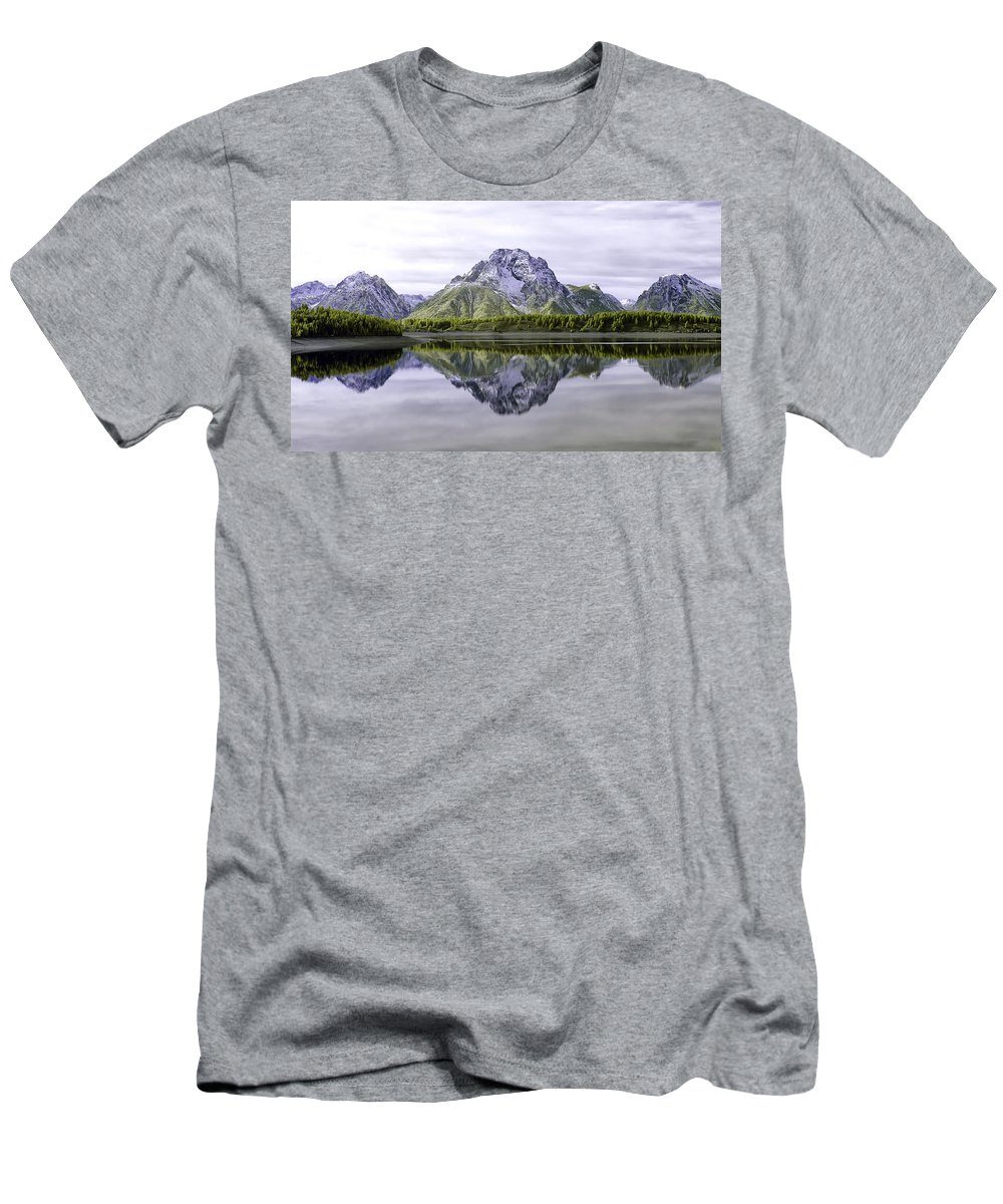 Fall Men's T-Shirt (Athletic Fit) featuring the photograph Majestic Grand Tetons by Cindy Archbell