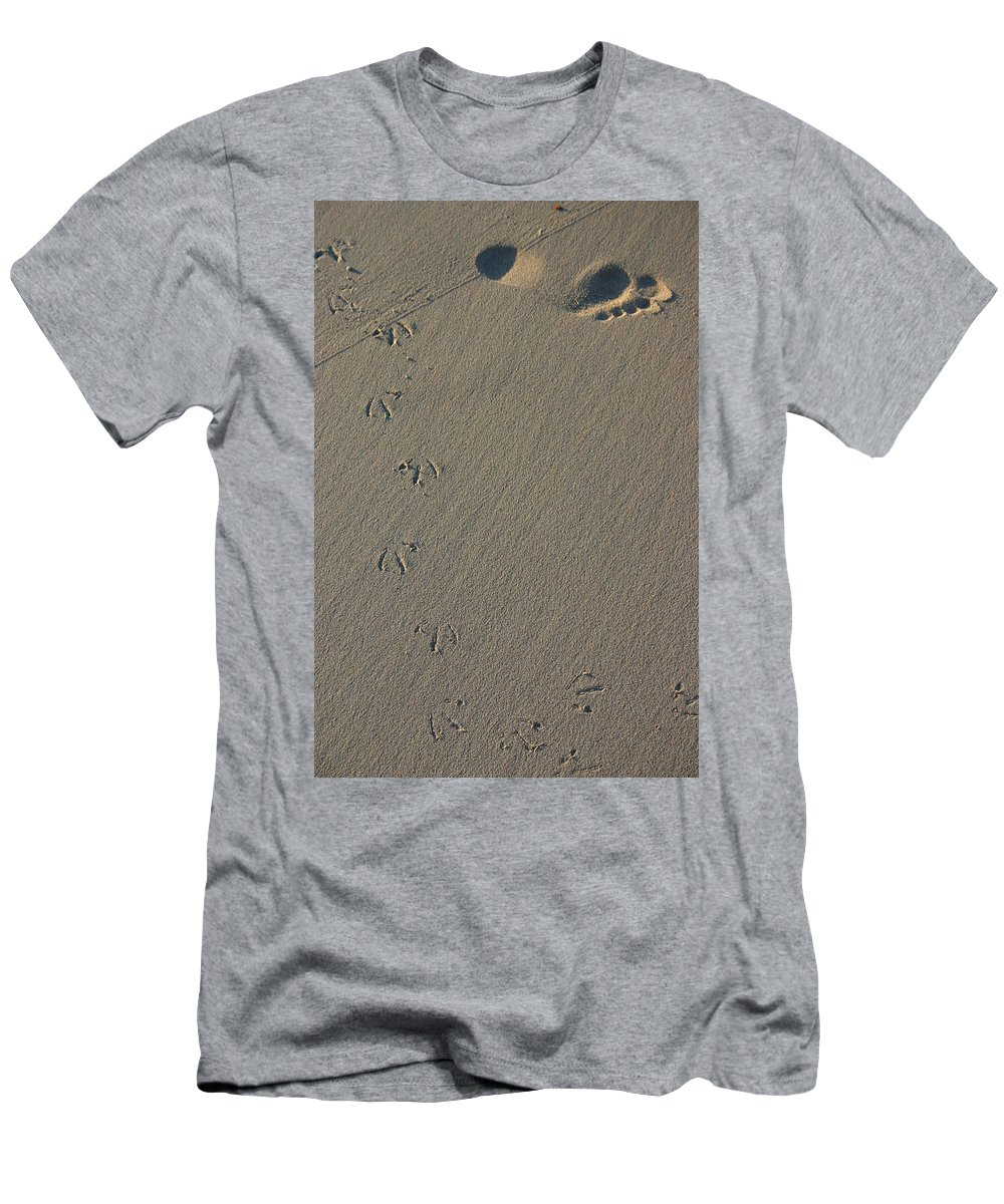Beach Men's T-Shirt (Athletic Fit) featuring the photograph Fleeting Moments by Fraser McCulloch