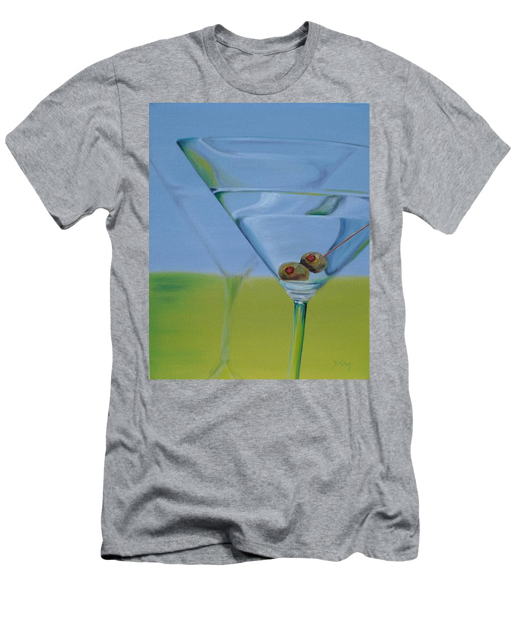 Martini Men's T-Shirt (Athletic Fit) featuring the painting Martini Time by Donna Tuten
