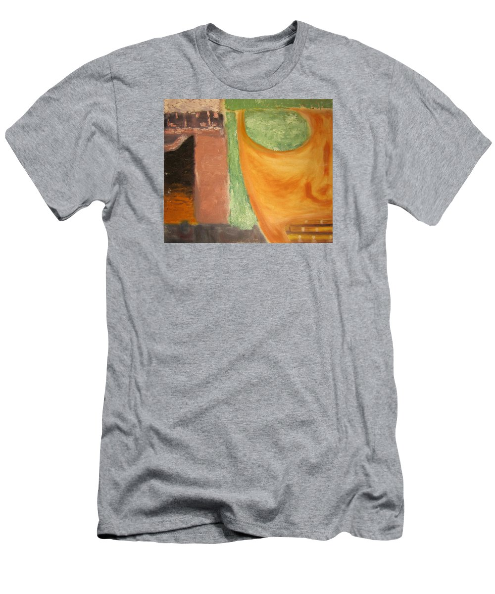 Abstract Men's T-Shirt (Athletic Fit) featuring the painting Mask by Jeffrey Oleniacz