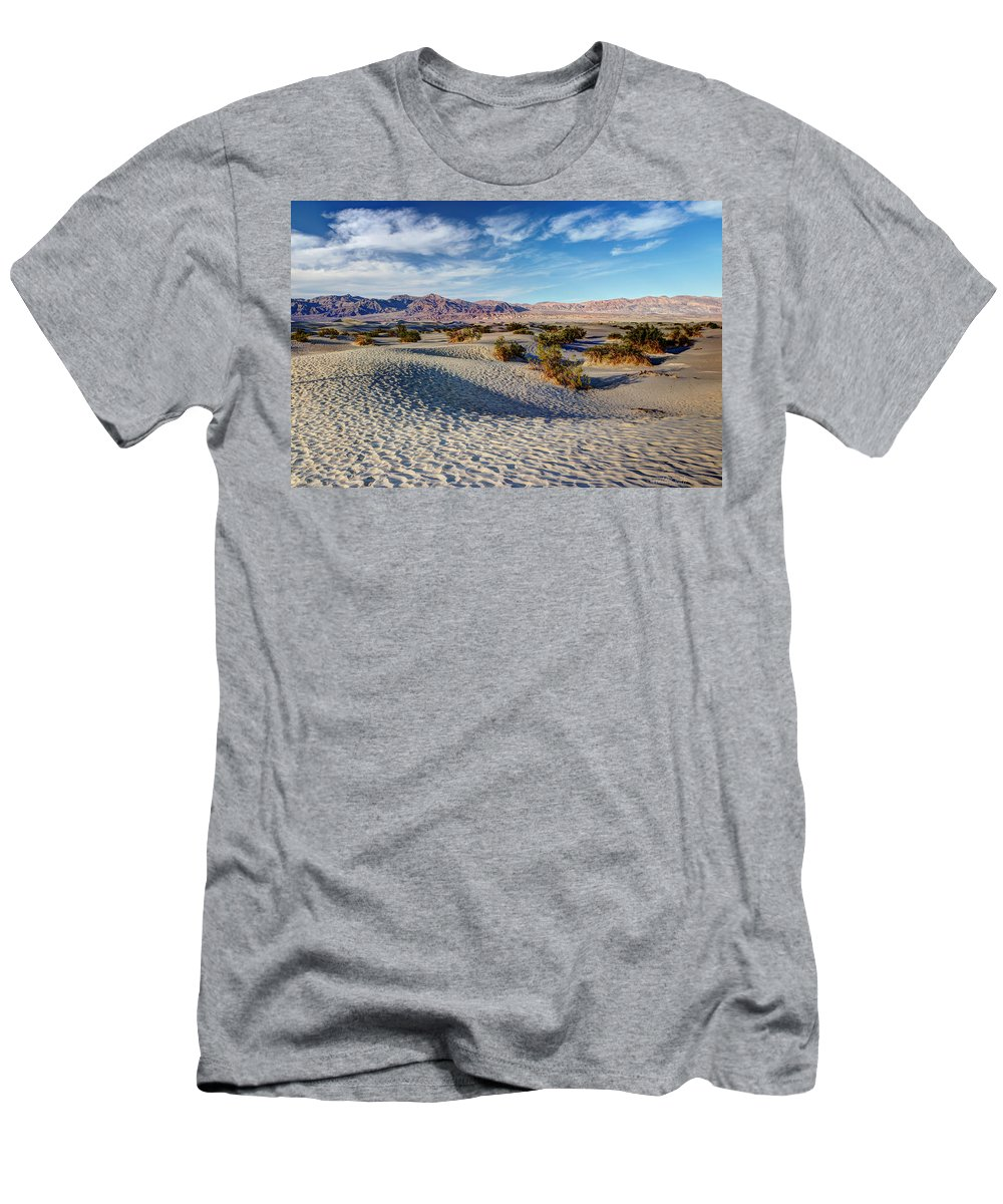 American Men's T-Shirt (Athletic Fit) featuring the photograph Mesquite Flat Dunes by Heidi Smith