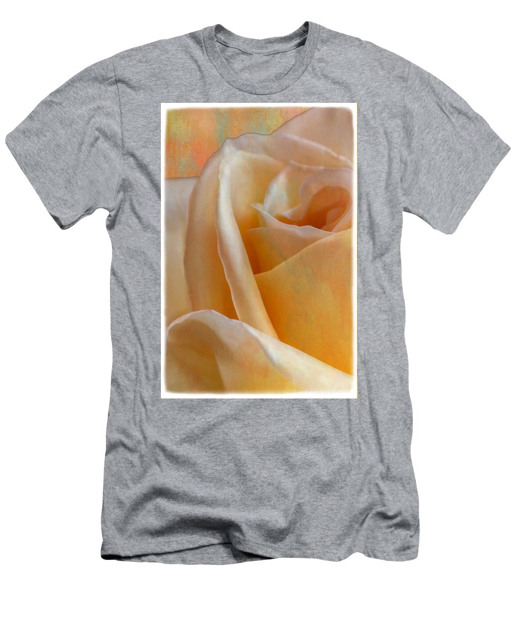 Botanicals Men's T-Shirt (Athletic Fit) featuring the photograph Mirage Rose by Linda Dunn