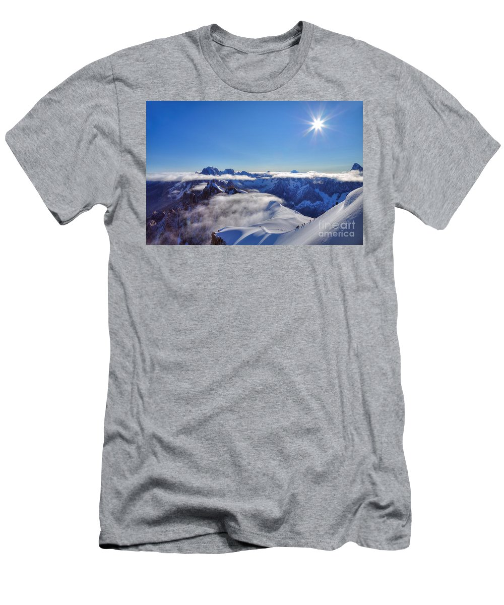 Mont Blanc Men's T-Shirt (Athletic Fit) featuring the photograph Mont Blanc Massif by James Anderson