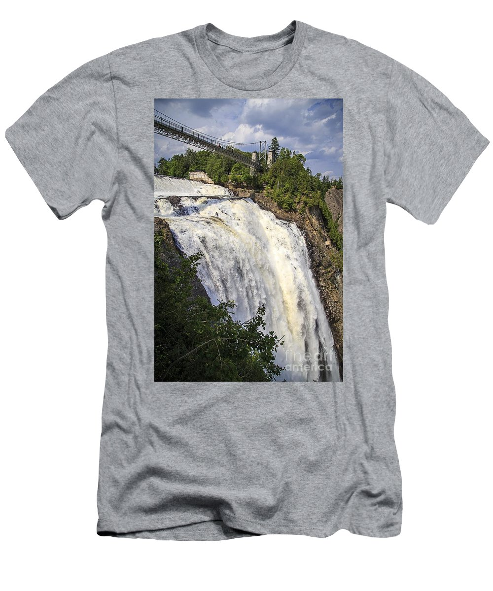 2013 Men's T-Shirt (Athletic Fit) featuring the photograph Montmorency Falls Park Quebec City Canada by Edward Fielding