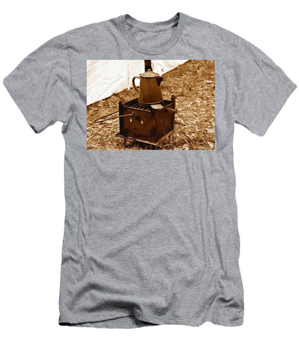 Coffee Men's T-Shirt (Athletic Fit) featuring the photograph Morning Brew by David Lee Thompson