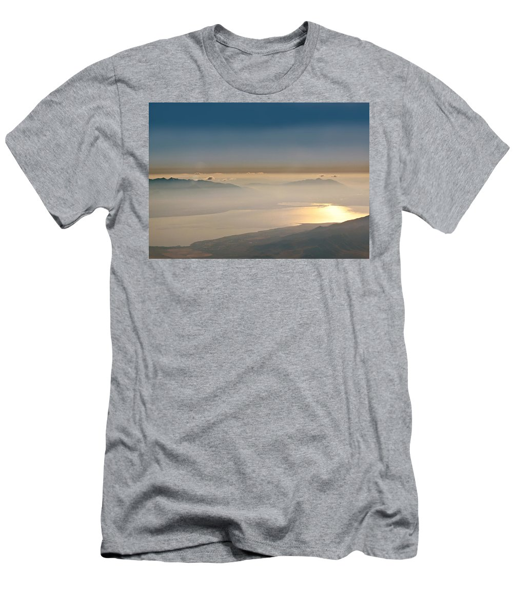 Color Men's T-Shirt (Athletic Fit) featuring the photograph Morning Glow by Kume Bryant