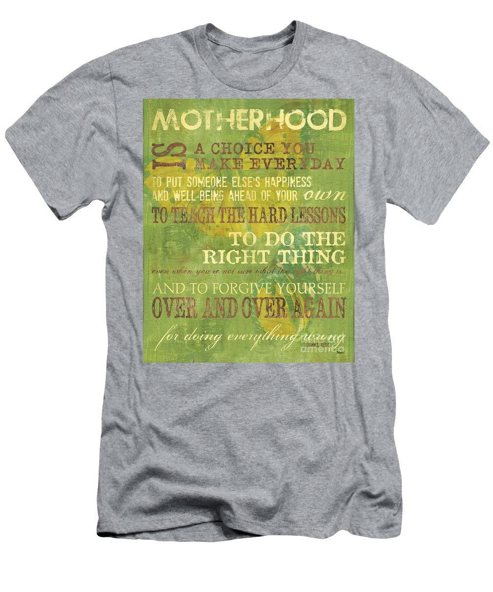 Motherhood Men's T-Shirt (Athletic Fit) featuring the painting Motherhood by Debbie DeWitt