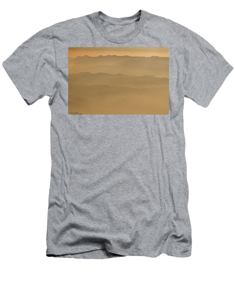 Mountains Men's T-Shirt (Athletic Fit) featuring the photograph Mountain Glory In Yellow by Hany J