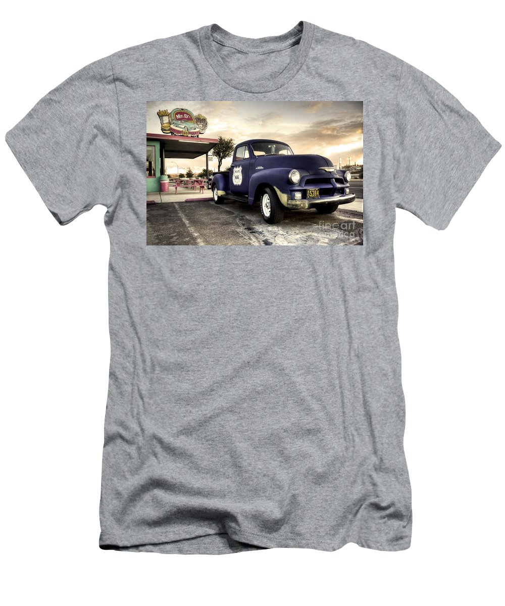 Burger Men's T-Shirt (Athletic Fit) featuring the photograph Mr D'z Diner by Rob Hawkins