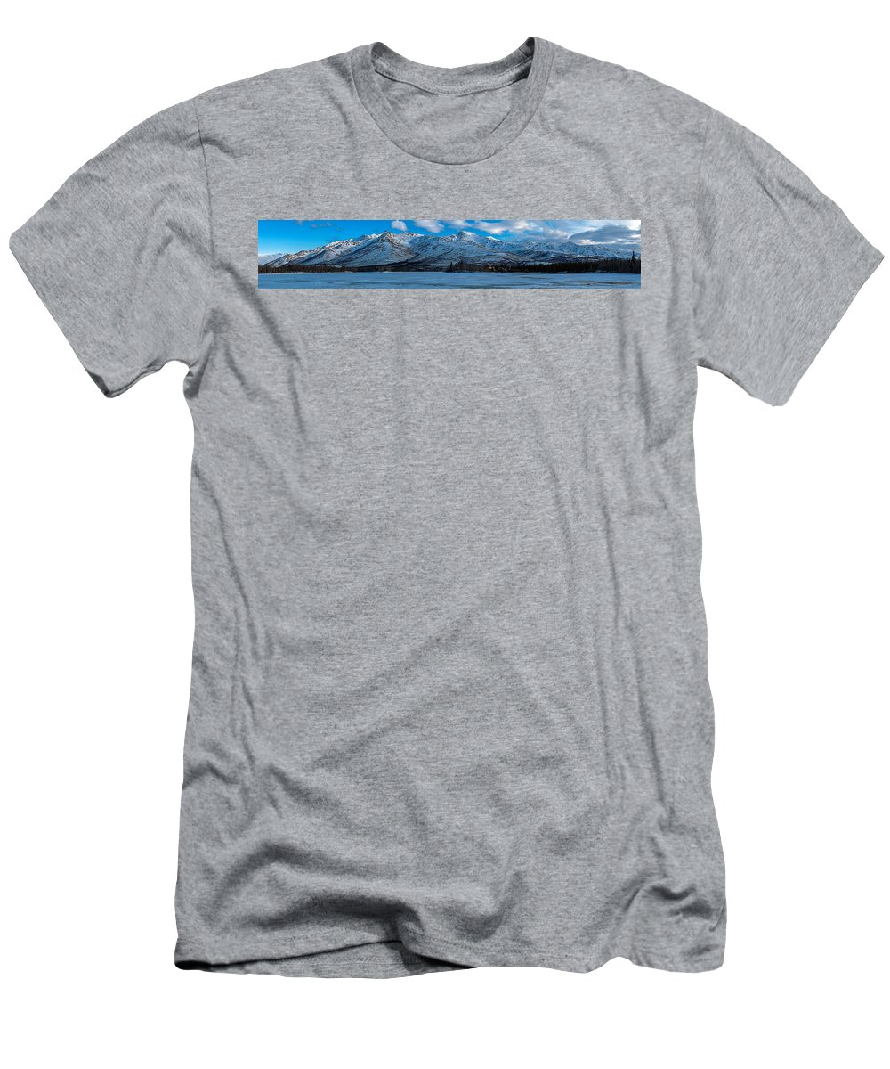 Mountain Men's T-Shirt (Athletic Fit) featuring the photograph Mt. Healy by Thomas Sellberg