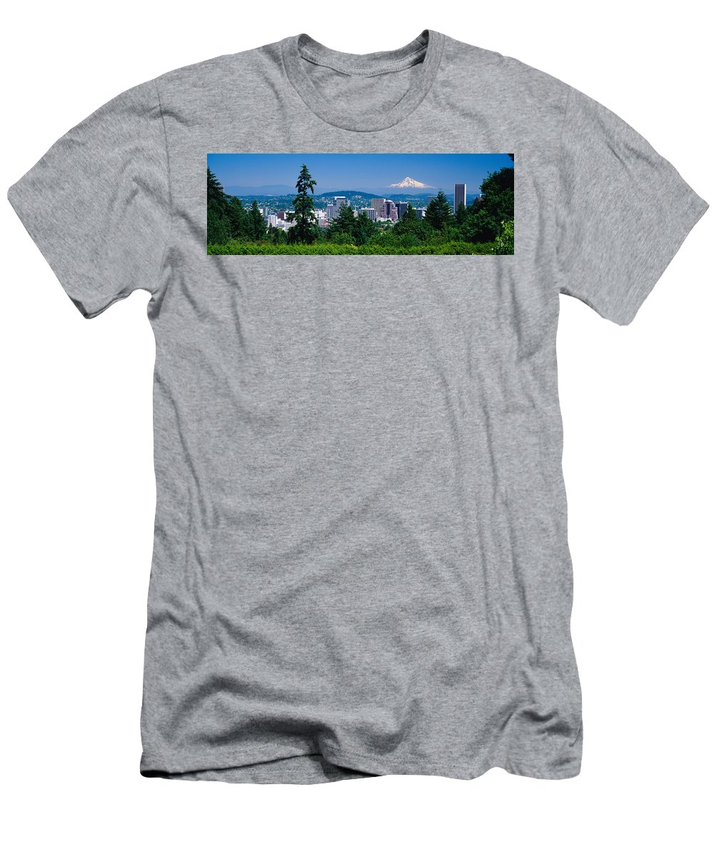 Photography Men's T-Shirt (Athletic Fit) featuring the photograph Mt Hood Portland Oregon Usa by Panoramic Images