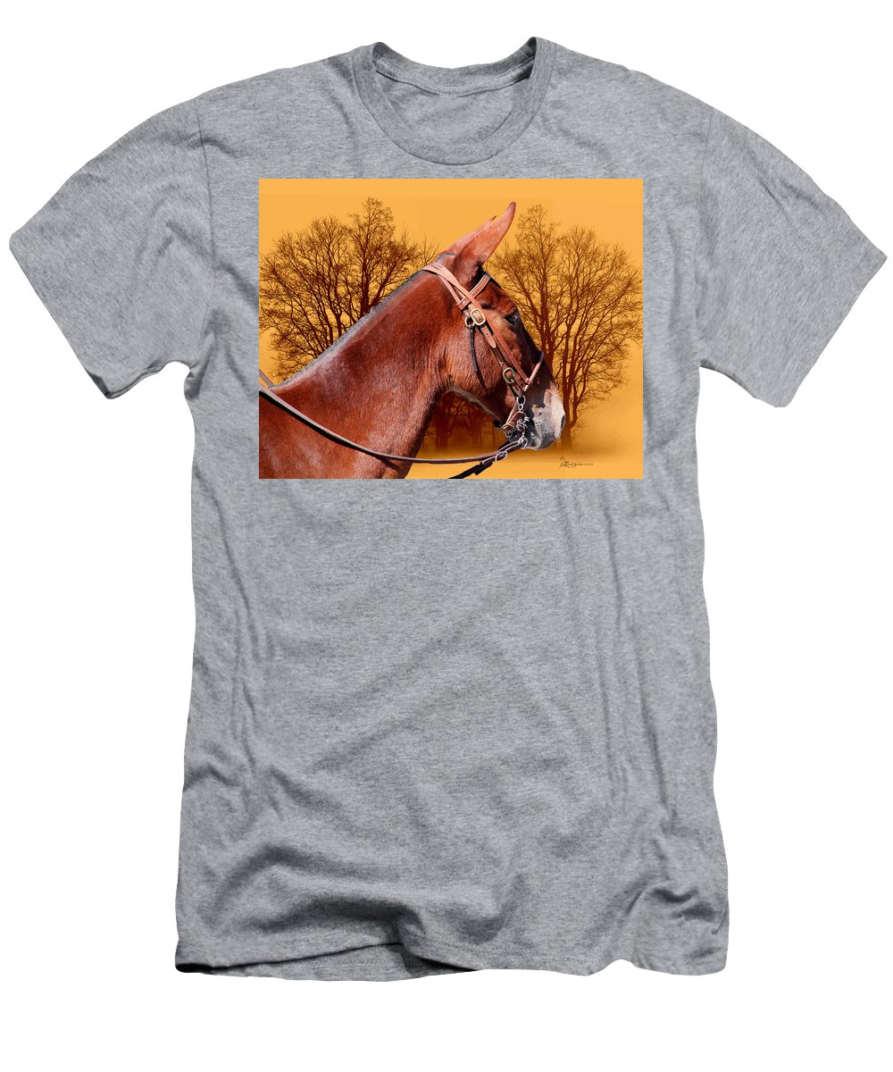 Mule Men's T-Shirt (Athletic Fit) featuring the photograph Mule Days - Westmoreland Tn 9-28-13 by Ericamaxine Price