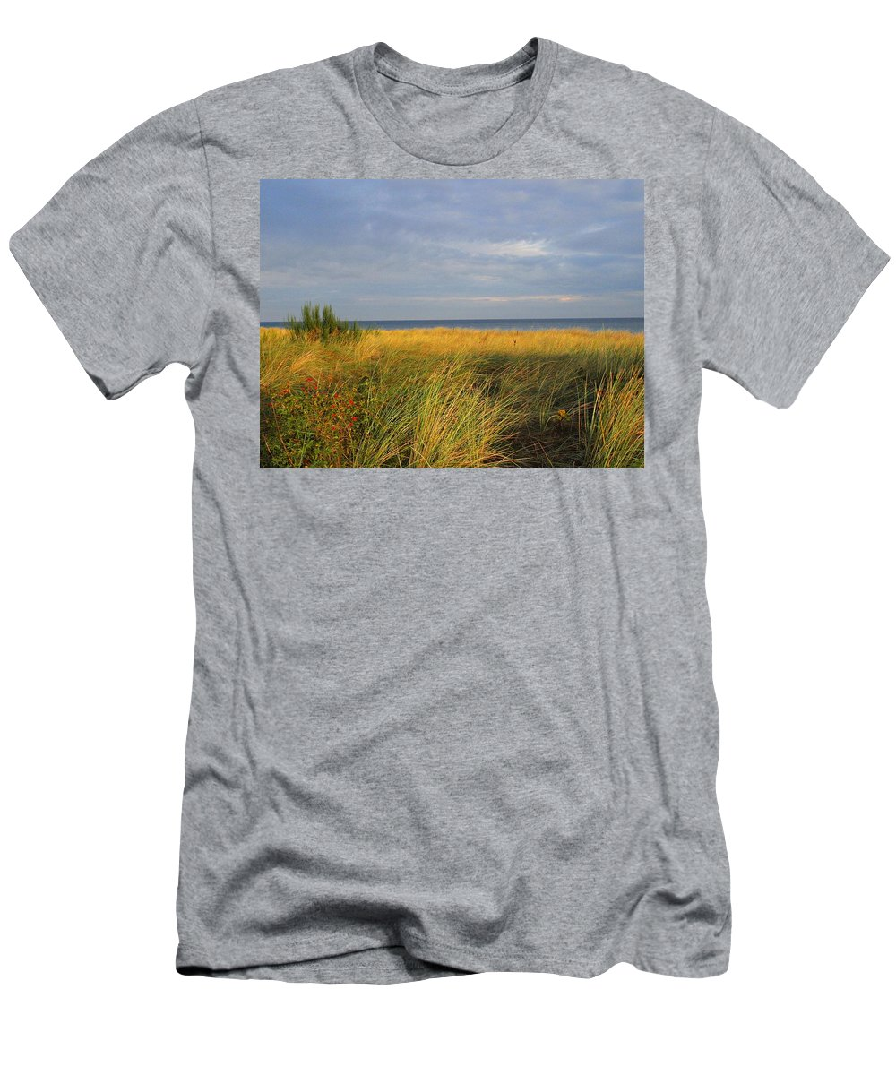Love Men's T-Shirt (Athletic Fit) featuring the photograph My Love Awaits Me By The Sea by Movie Poster Prints