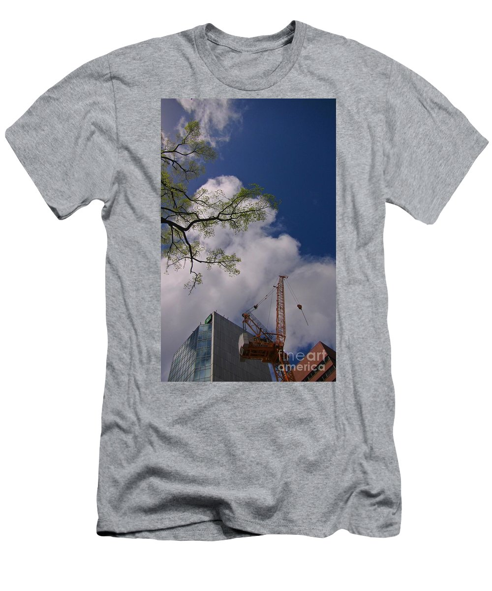 Nature Photograph Men's T-Shirt (Athletic Fit) featuring the photograph Nature Vs Industry by John Malone