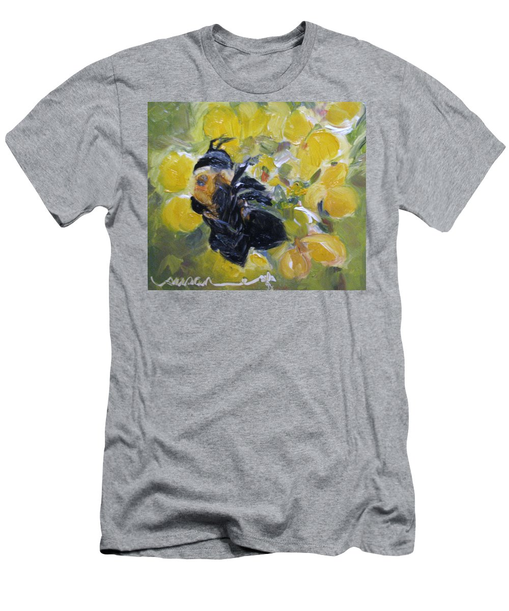 Floral Men's T-Shirt (Athletic Fit) featuring the painting Nectar by Susan Elizabeth Jones
