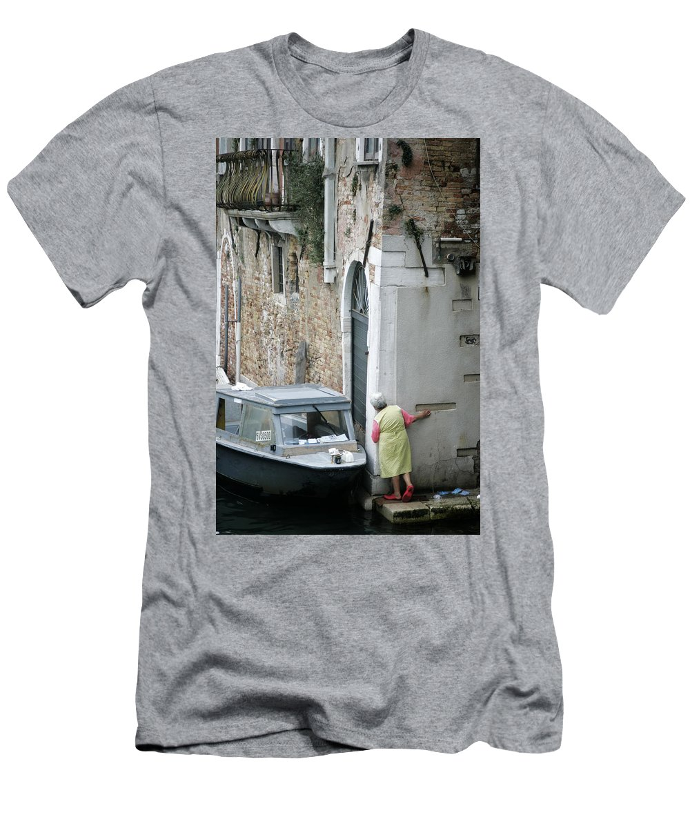 Venice Men's T-Shirt (Athletic Fit) featuring the photograph Neighbourhood Watch by Christopher Rees