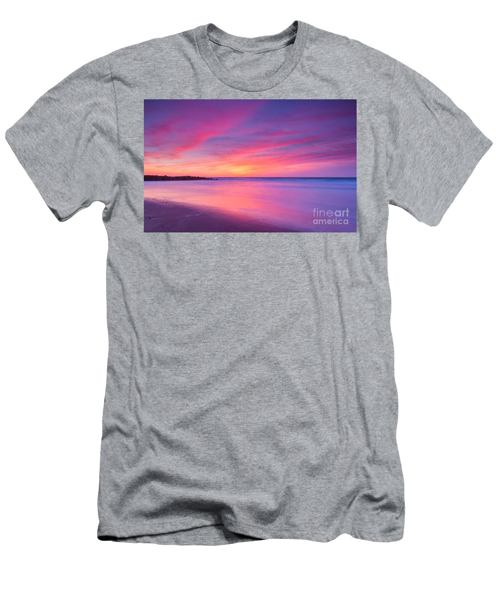 New Jersey Sunrise Landscape Men's T-Shirt (Athletic Fit) featuring the photograph New Jersey Sunrise by Michael Ver Sprill