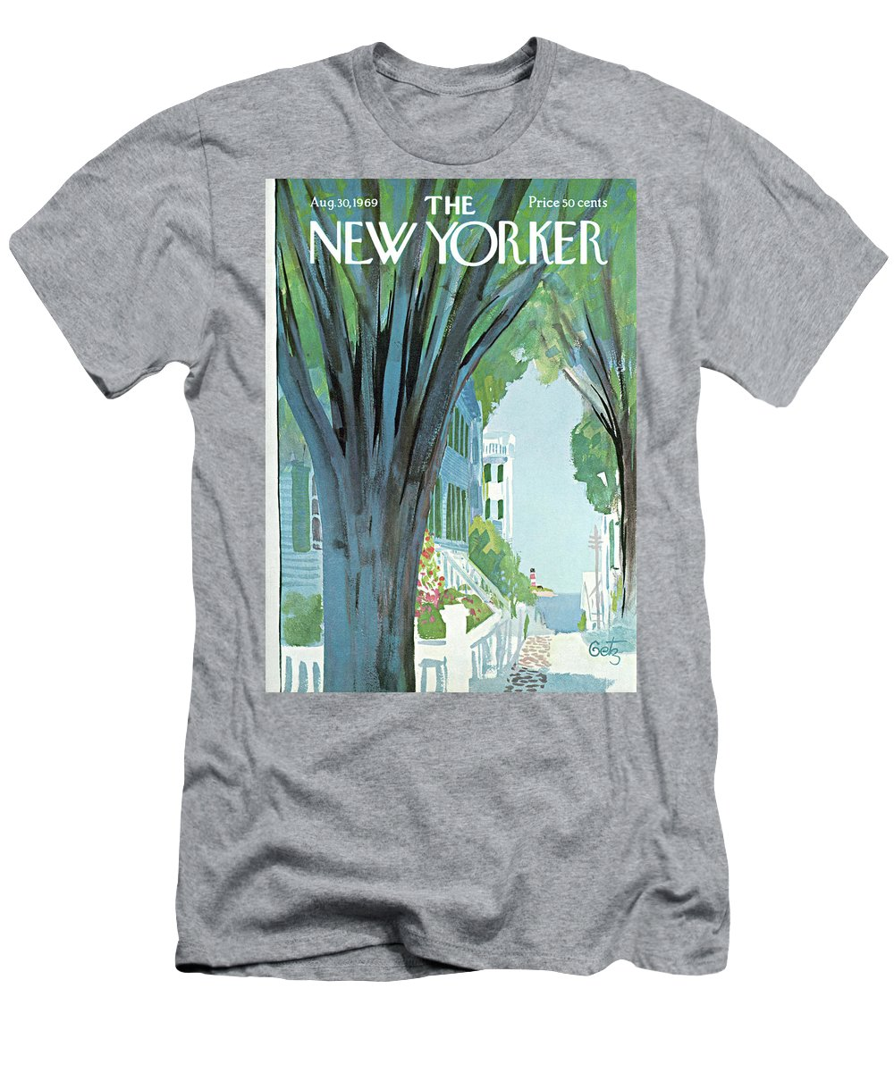 Arthur Getz Agt T-Shirt featuring the painting New Yorker August 30th, 1969 by Arthur Getz