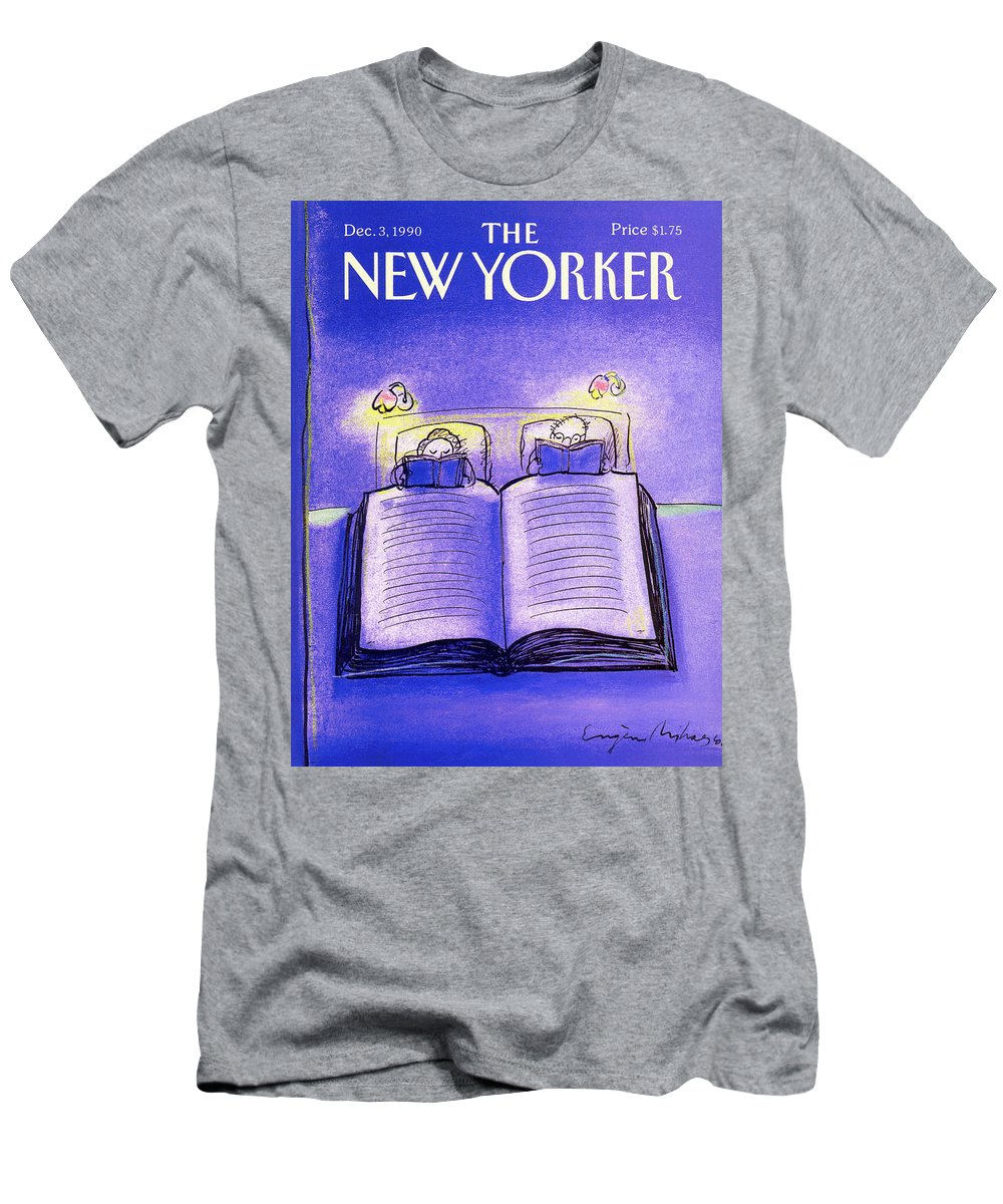 Married Couple T-Shirt featuring the painting New Yorker December 3rd, 1990 by Eugene Mihaesco