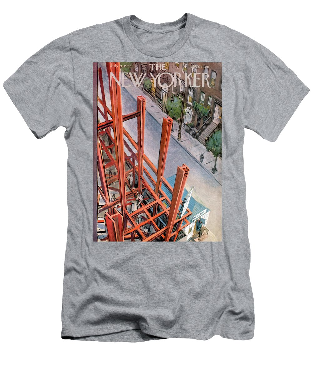 Urban Men's T-Shirt (Athletic Fit) featuring the painting New Yorker July 9th, 1955 by Arthur Getz