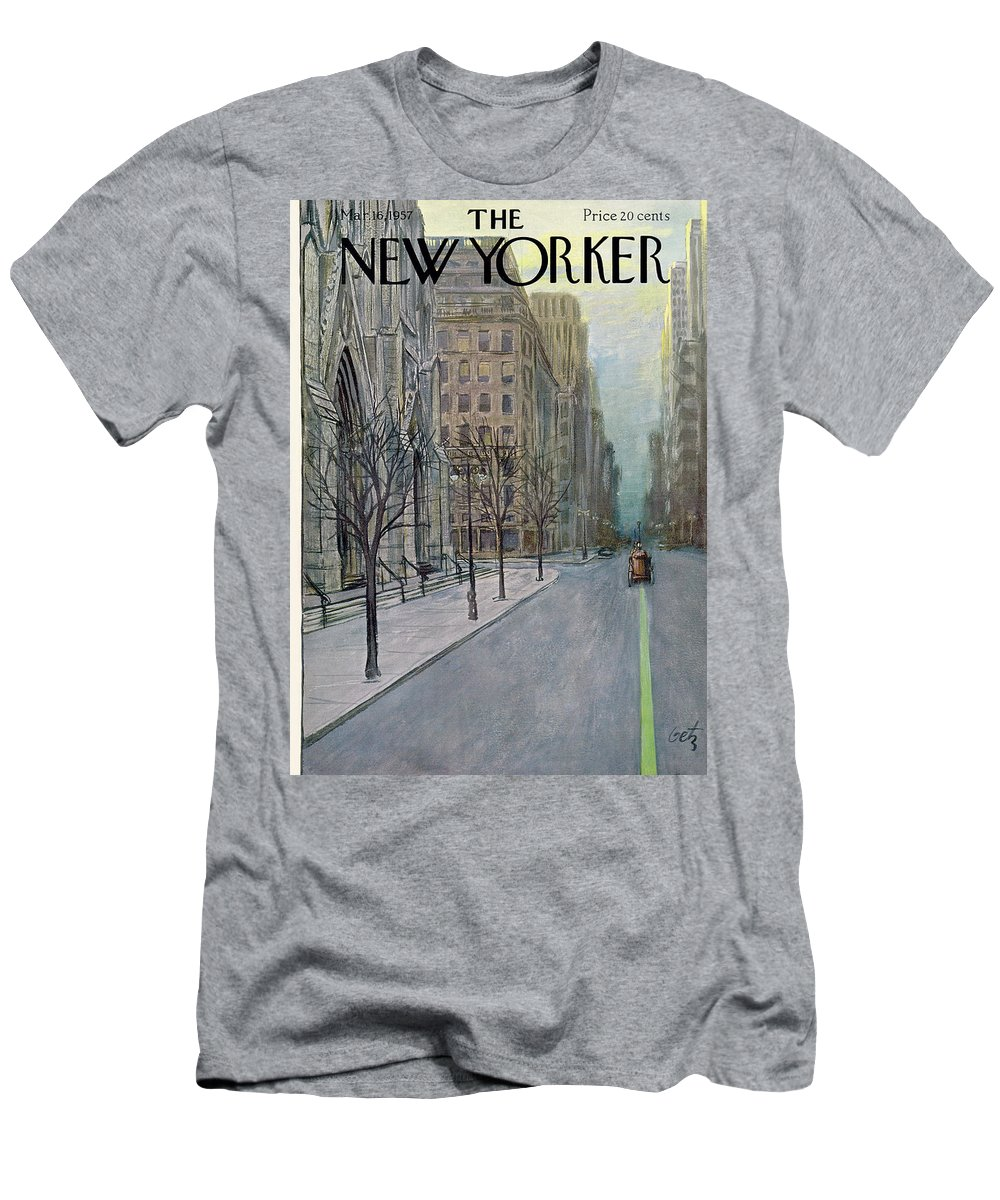 Urban T-Shirt featuring the painting New Yorker March 16th, 1957 by Arthur Getz