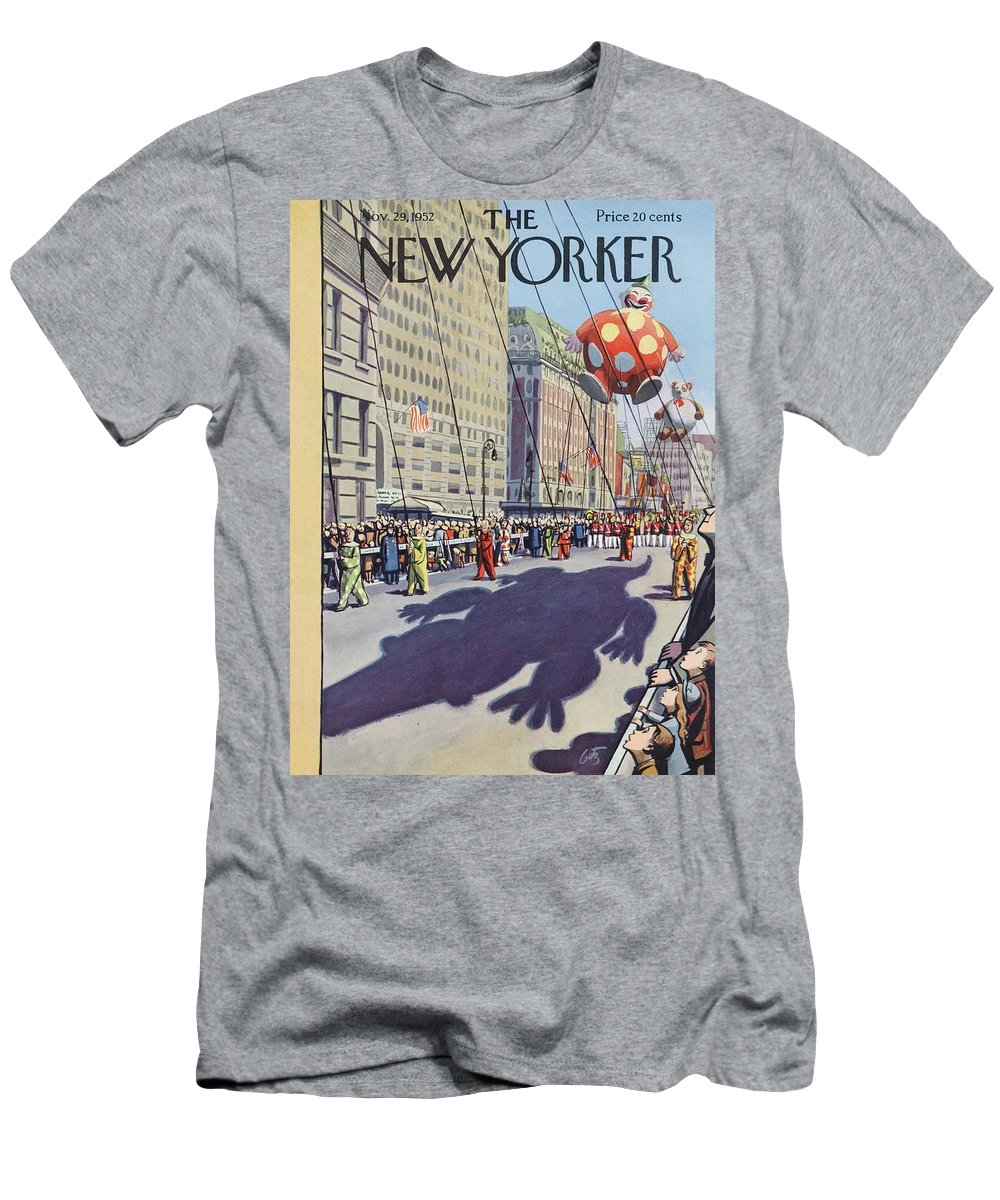 Party Men's T-Shirt (Athletic Fit) featuring the painting New Yorker November 29th, 1952 by Arthur Getz